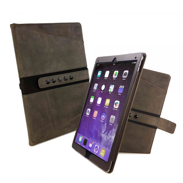more photos cad53 c5739 Personalised Tri-Axis Western Leather Case Cover for Apple iPad Air 2019 /  iPad Pro 10.5 (2017) - Brown