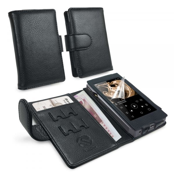 Faux Leather Case Cover for FiiO X5 iii 3rd Gen - Black
