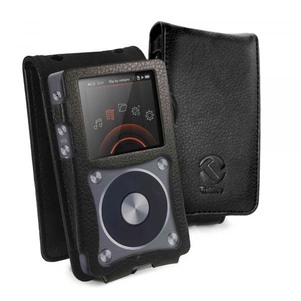 Faux Leather Case Cover for FiiO X5 2nd Gen - MP3 (Inc  Screen Protector) -  Black