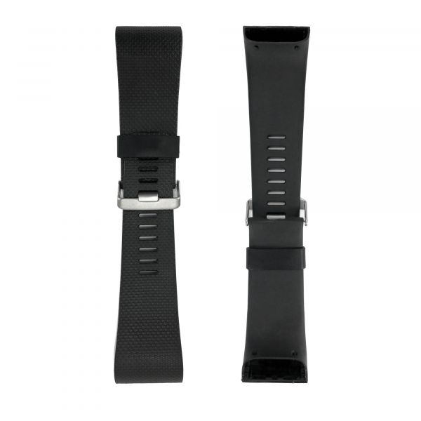 TPU Silicone Adjustable Strap / Wristband for FitBit Surge - Black