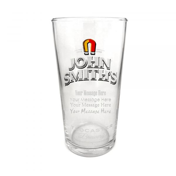 Special Offer John Smiths Personalised Engraved Pint Glass CE 20oz With Gift Box