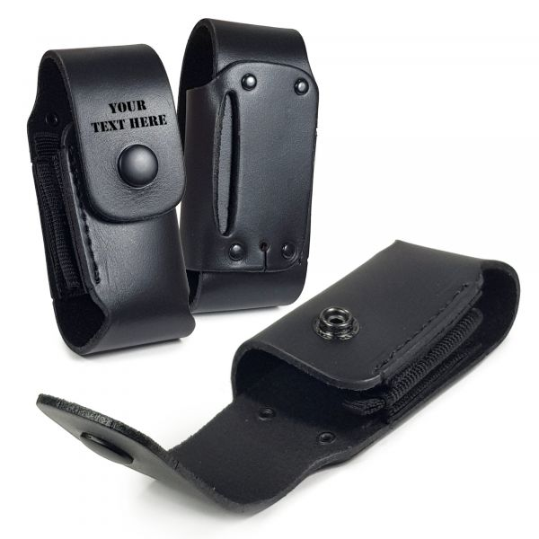 on sale 28738 f5fb3 Personalised Genuine Leather Case Sheath Pouch for Leatherman Wave WP650 -  Black